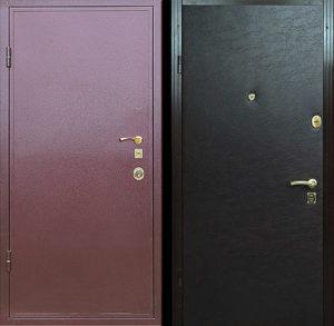 Входная металлическая дверь порошковое напыление + винилискожа СП004