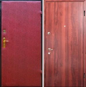 Входная металлическая дверь винилискожа + ламинат СП294